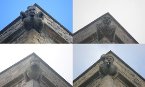 Bletsoe - St Mary the Virgin. Tower gargoyles.