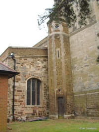 Biggleswade - St Andrew. West tower from the north-west.
