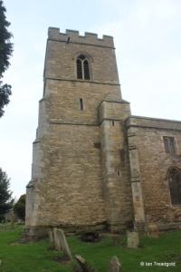 Goldington - St Mary the Virgin. Tower from the south.