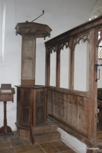 Lower Gravenhurst - St Mary. Pulpit.
