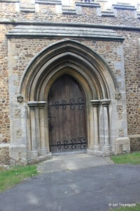 Great Barford - All Saints. South door.