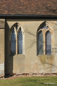 Harlington - St Mary. Chancel, south windows.