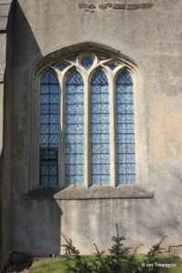 Harlington - St Mary. South aisle, eastern window.