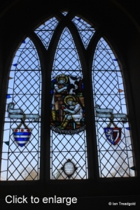 Harrold - St Peter. North aisle, Lady Chapel window internal.