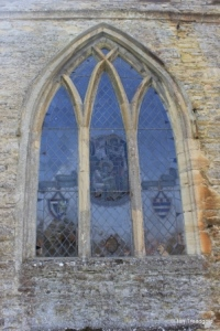 Harrold - St Peter. North aisle, Lady Chapel window.