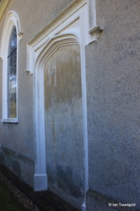 Heath & Reach - St Leonard. Blocked north doorway.