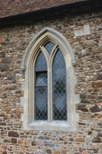 Higham Gobion - St Margaret. South side, middle window.