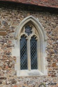 Higham Gobion - St Margaret. South side, western window.