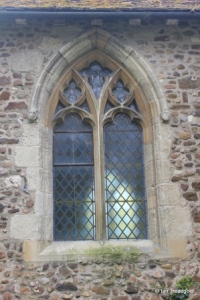 Higham Gobion - St Margaret. Chancel north window.