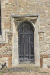 Houghton Conquest - All Saints. Chancel, priest's doorway.