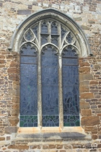 Henlow - St Mary. South aisle, east window.