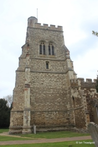 Henlow - St Mary. Tower from the south.