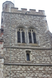 Henlow - St Mary. Tower, belfry openings.