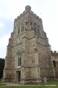 Henlow - St Mary. Tower from the south-west