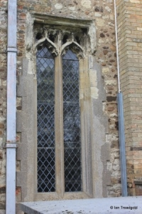 Henlow - St Mary. North aisle, western window.