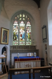 Henlow - St Mary. South aisle altar.