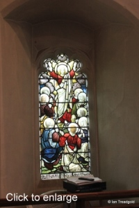 Henlow - St Mary. Chancel, south-west window internal.