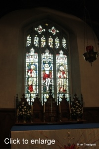 Henlow - St Mary. East window, internal.
