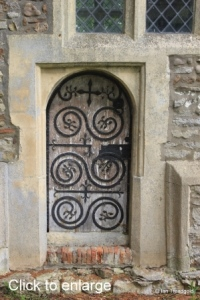 Hulcote - St Nicholas. Priest's door.