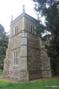 Hulcote - St Nicholas. Tower from the south-west.