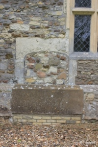 Hulcote - St Nicholas. Blocked north doorway.