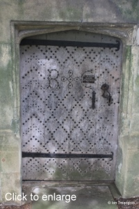 Hulcote - St Nicholas. South porch door.