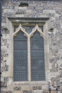 Houghton Regis - All Saints. Chancel, north-west window.