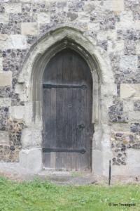 Houghton Regis - All Saints. Chancel south doorway.
