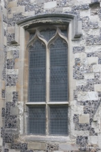 Houghton Regis - All Saints. Chancel south-west window.
