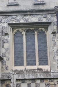 Houghton Regis - All Saints. South aisle, central window.