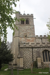 Houghton Regis - All Saints. Tower from the south.