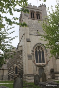 Houghton Regis - All Saints. Tower from the west.