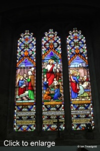 Houghton Regis - All Saints. North aisle, north-east window internal