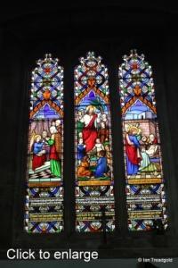Houghton Regis - All Saints. North aisle, north-east window internal