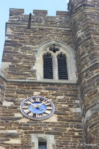 Flitton - St John the Baptist. Tower clock and belfry opening.