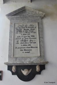 Flitton - St John the Baptist. Wall memorial.