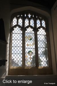 Flitton - St John the Baptist. South aisle east window internal.