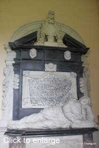 Flitton - de Grey Mausoleum. Lady Jane Hart.