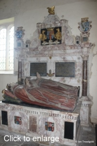 Flitton - de Grey Mausoleum. Henry de Grey, 6th Earl of Kent, Mary Cotton.
