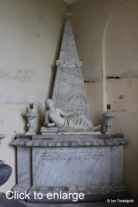 Flitton - de Grey Mausoleum. Henrietta de Grey.