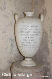 Flitton - de Grey Mausoleum. Lady Mary Gregory.