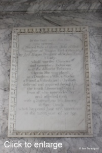 Flitton - de Grey Mausoleum. Sophia Bentinck.