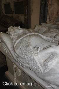 Flitton - de Grey Mausoleum. 10th Earl of Kent, Amabel Benn.
