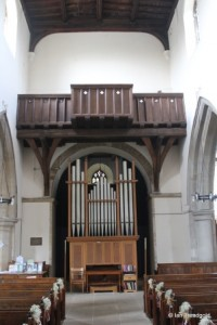 All Saints, Kempston. Organ.