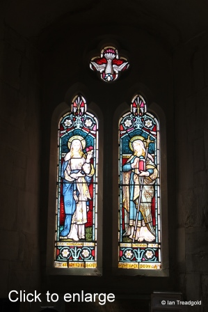 Flitwick - St Peter & St Paul. South aisle, west window internal.