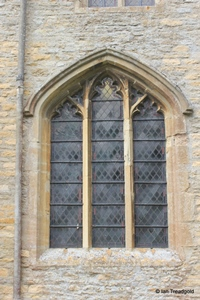 Keysoe, St Mary. South side, western window.