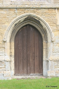 Keysoe, St Mary. West door.