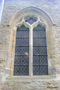 Keysoe, St Mary. North aisle, western window.