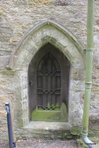 Keysoe, St Mary. North aisle, north doorway.