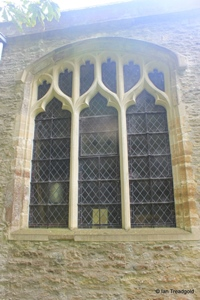 Keysoe, St Mary. North chapel, western window.